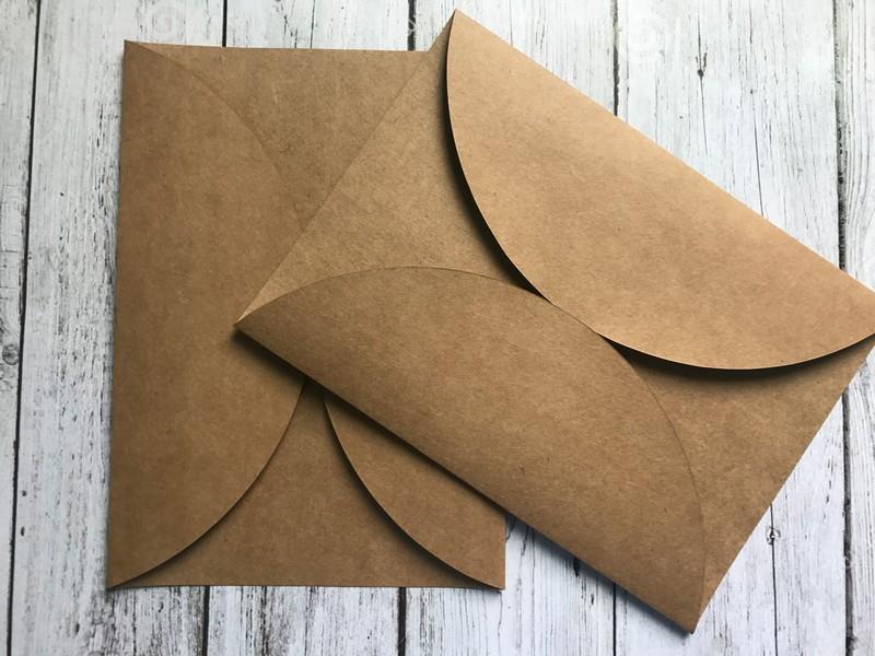 Envelope de papel pardo