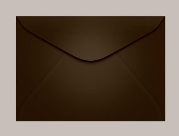 envelope marrom