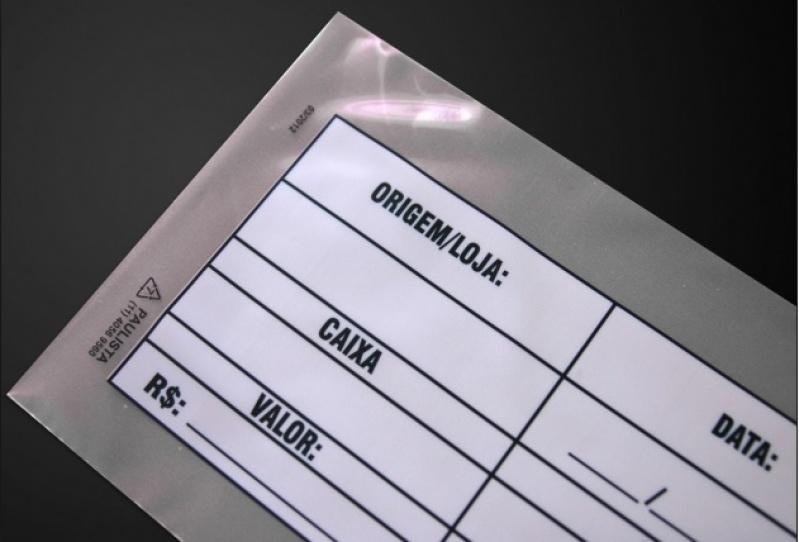 Envelopes caixa de sangria